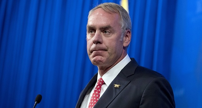 Interior Secretary Ryan Zinke speaks about the Trump Administration's energy policy at the Heritage Foundation in Washington, Sept. 29, 2017. (AP Photo)