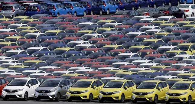 Newly manufactured cars of the automobile maker Honda await export at a port in Yokohama, south of Tokyo, June 23, 2015. (Reuters Photo)