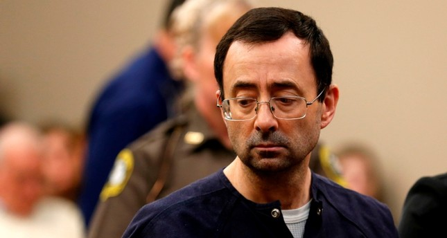 Former Michigan State University and USA Gymnastics doctor Larry Nassar addresses the court during the sentencing phase in Ingham County Circuit Court on January 24, 2018 in Lansing, Michigan. (AFP Photo)