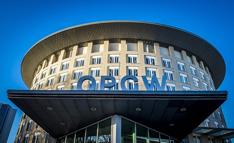 A file photo taken on November 15, 2013 shows an exterior view of the Organisation for the Prohibition of Chemical Weapons (OPCW) building in The Hague. (AFP Photo)