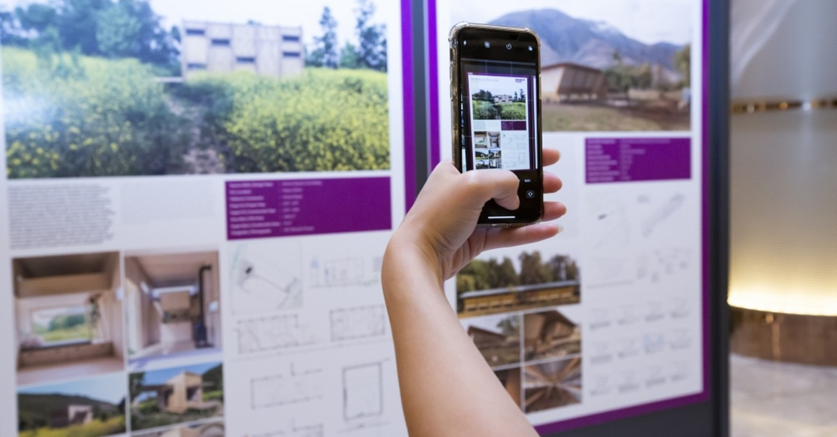 Visitors can see detailed drafts of prominent architectural designs at the exhibition.