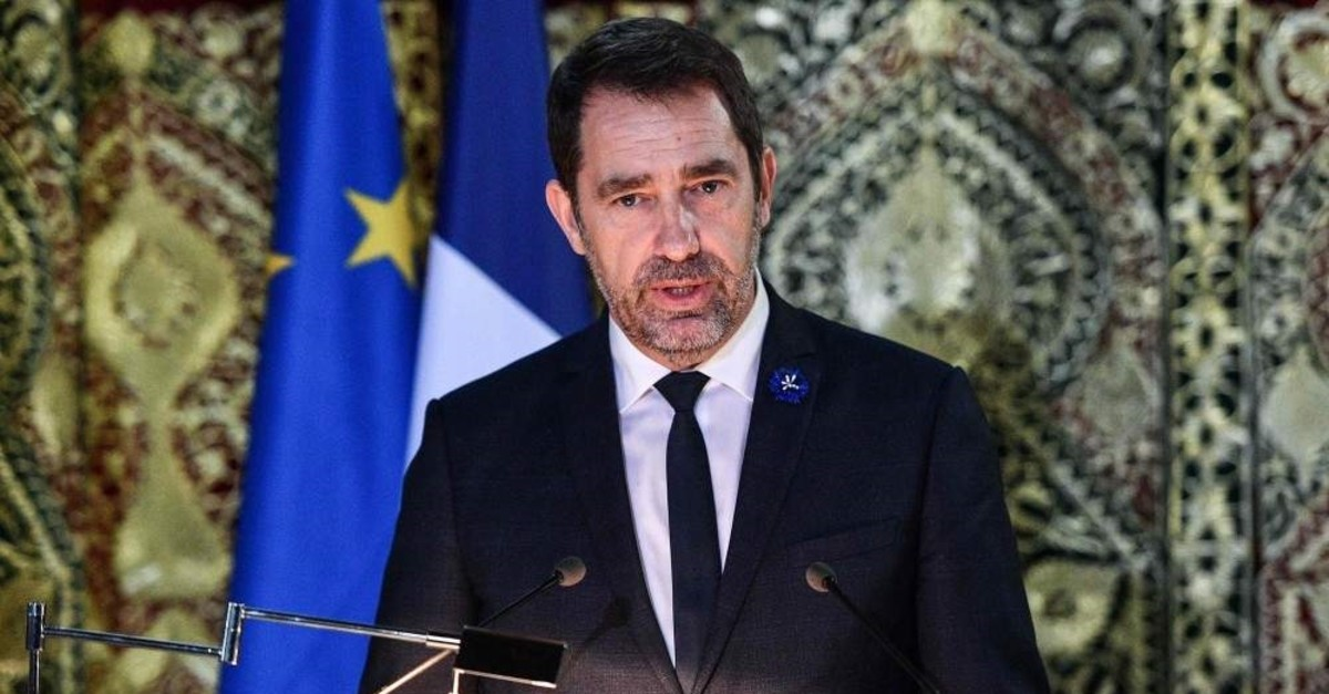 French Interior Minister Christophe Castaner speaks during a ceremony on November 7, 2019 at the Grande Mosquee in Paris (AFP Photo)