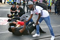Black Lives Matter demonstrators block traffic to London's Heathrow Airport