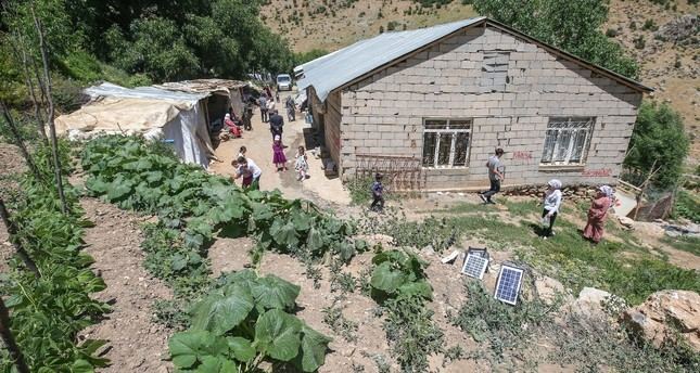 Residents of Horis village in the Çatak district of southeastern Van province returned to their homes, enjoying the region again after it was cleared of the PKK terrorist organization.