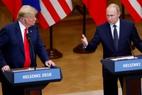 Trump says Russia probe a 'disaster' for US as Putin denies collusion allegations