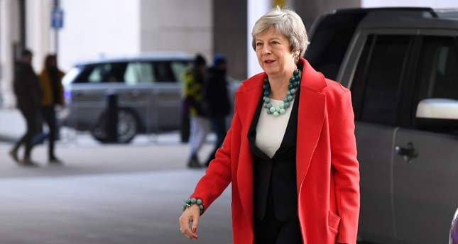 British Prime Minister Theresa May arrives at the BBC in London, Britain, 06 January 2019. (EPA Photo)