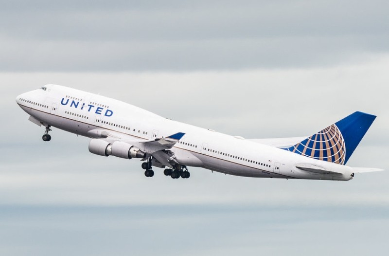 United Airlines Boeing 747 airplane at the San Francisco International Airport takeoff in San Francisco. (FILE Photo)
