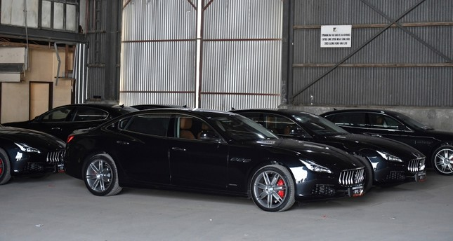 In this Nov. 17, 2018, photo, a selection of Maserati cars, part of the 2018 Asia-Pacific Economic Cooperation (APEC) forum transportation, are seen in Port Moresby, Papua New Guinea. (Mick Tsikas/AAP via AP)