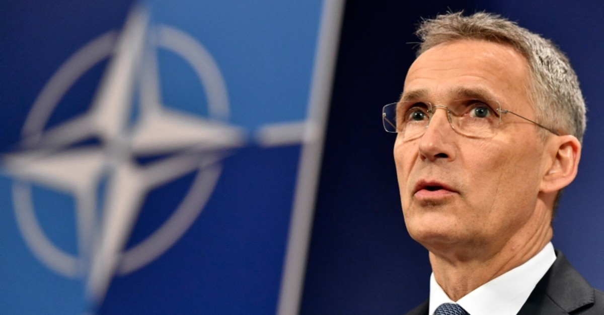 NATO Secretary General Jens Stoltenberg speaks during a media conference at NATO headquarters in Brussels on Thursday, April 26, 2018. (AP Photo)