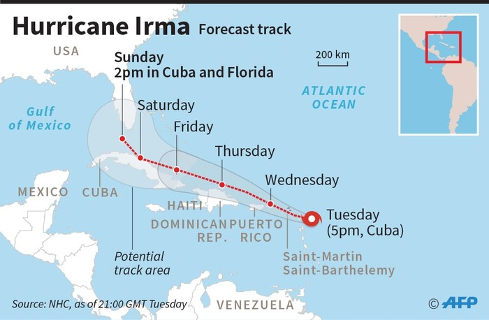 Catastrophic Hurricane Irma batters Caribbean islands causes