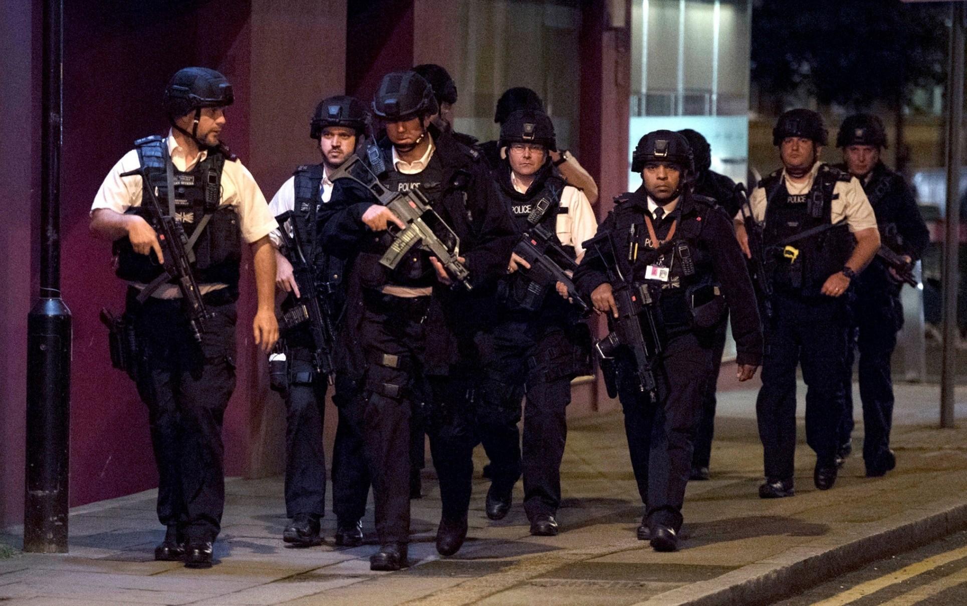 Armed Metropolitan Police Officers in the vicinity of London Bridge, June 3