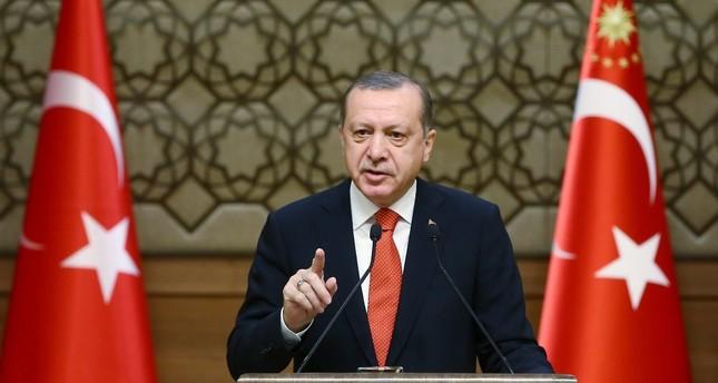 President Recep Tayyip Erdoğan speaking during the 33rd mukhtars (local officials) meeting in Ankara, Jan. 4.