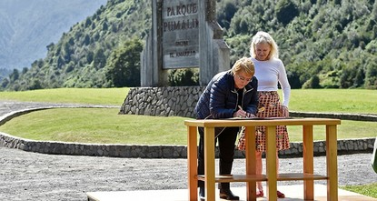 pU.S. philanthropist Douglas Tompkins's widow vividly remembers the suspicions the late billionaire raised when he started buying up land in Patagonia, the natural paradise at the bottom of South...