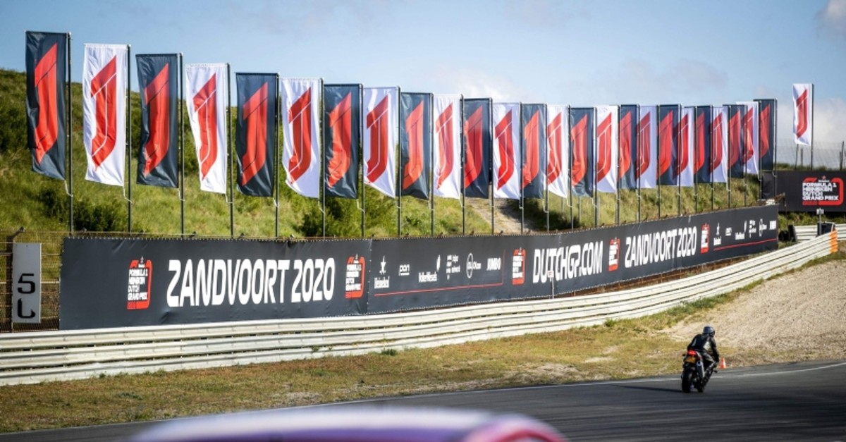 Billboards announce the arrival of the Formula 1 Dutch Grand Prix in Zandvoort on May 14, 2019 as a press conference will take place today at the circuit to provide more information. (Photo by Remko de Waal / ANP / AFP)