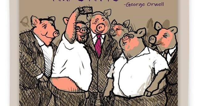 صورة الكاريكاتير التي أدت إلى طرد الرسام آفي كاتس من جوروزلم بوست
