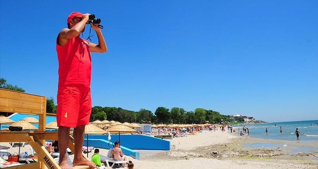 Istanbul's lifeguards on duty to save lives at beaches