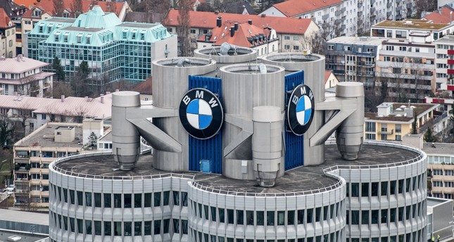A general view shows the headquarters of the German car manufacturer BMW Group in Munich.