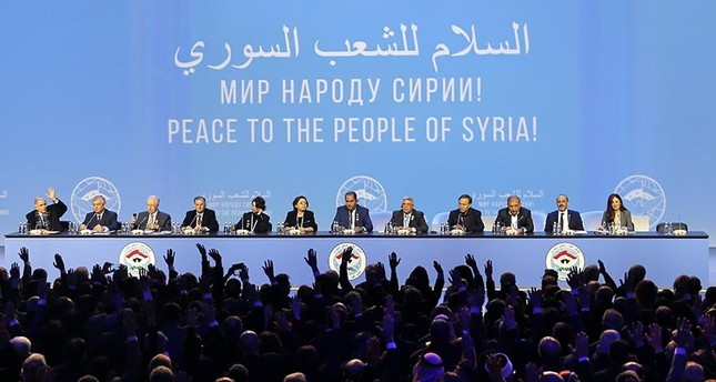 Delegates attend the Syrian National Dialogue Congress in the Black sea resort of Sochi, Russia, Jan. 30, 2018. (EPA Photo)