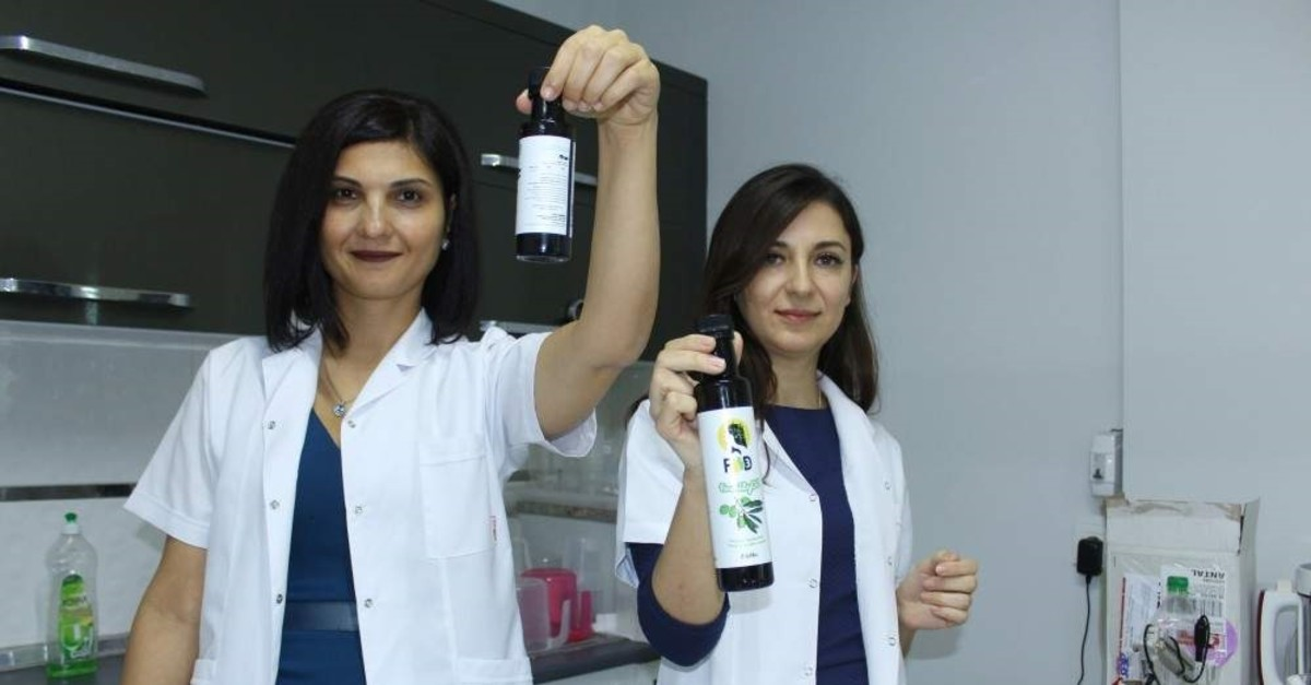Two entrepreneurs in Ankara produced vitamin D-supported olive oil with funding from KOSGEB. (AA Photo)