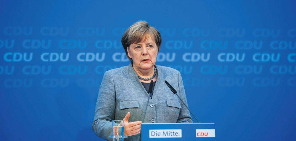 German Chancellor Merkel speaks during a press conference, Berlin, Dec. 18.