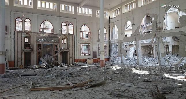 مسجد زملكا بعد قصفه من قبل قوات الأسد