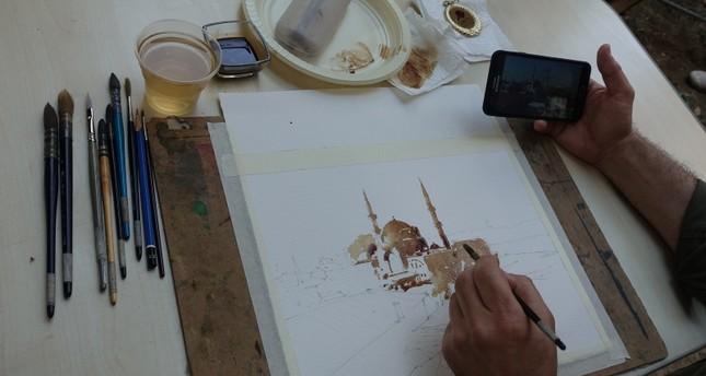 ورشة لفن الرسم بالقهوة في إسطنبول