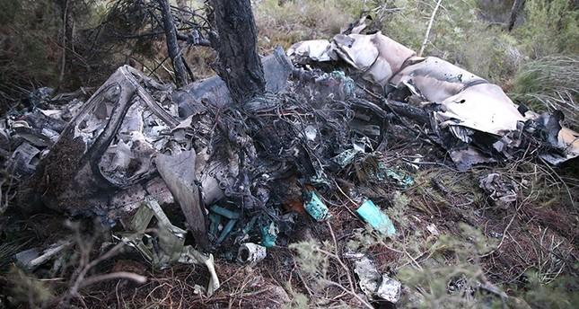 العثور على قائد المقاتلة السورية التي تحطمت في هاطاي التركية