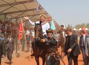 PM Yıldırım attends Ertuğrul Gazi commemorations on horseback in midwestern Turkey