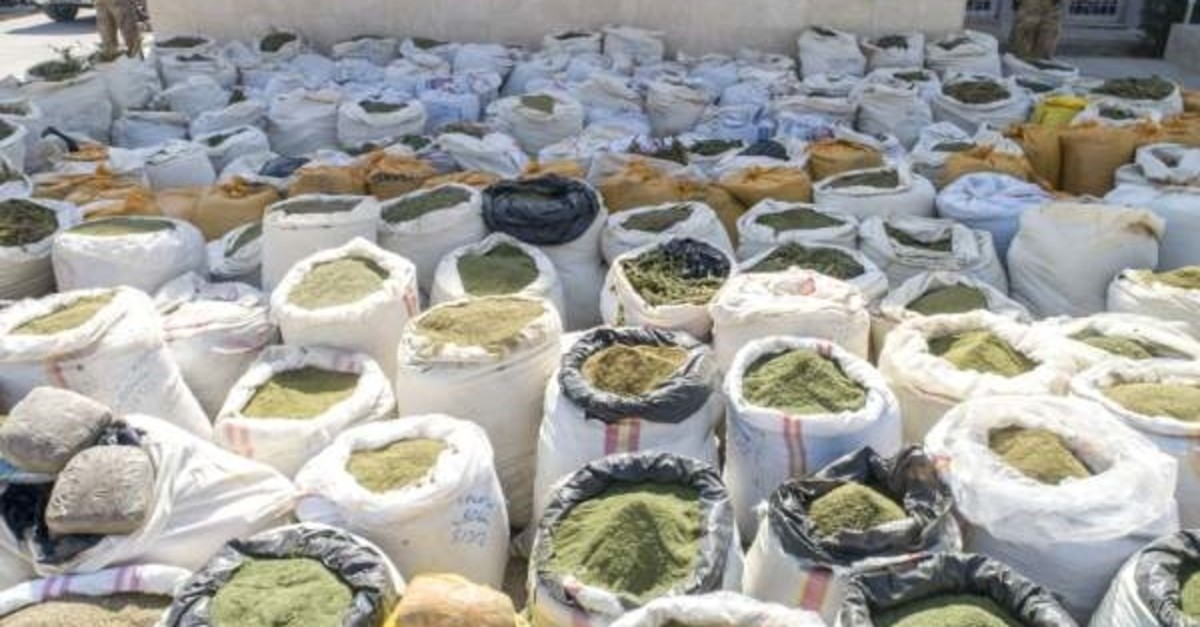 More than 5 tons of heroin and 1.3 million cannabis plants were seized in the latest operations. (AA Photo)