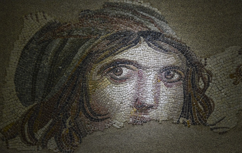 Gypsy Girl mosaic is on display at a museum in the city of Gaziantep. Pieces believed to belong it were installed at a floor at Ohiou2019s Bowling Green State University.