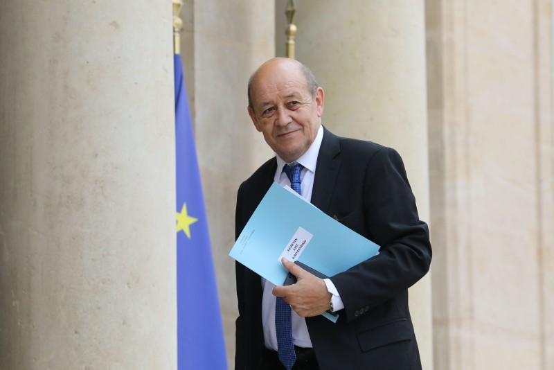 French Minister of Europe and Foreign Affairs Jean-Yves Le Drian arrives at the Elysee palace in Paris, France, June 5, 2018. (AFP Photo)