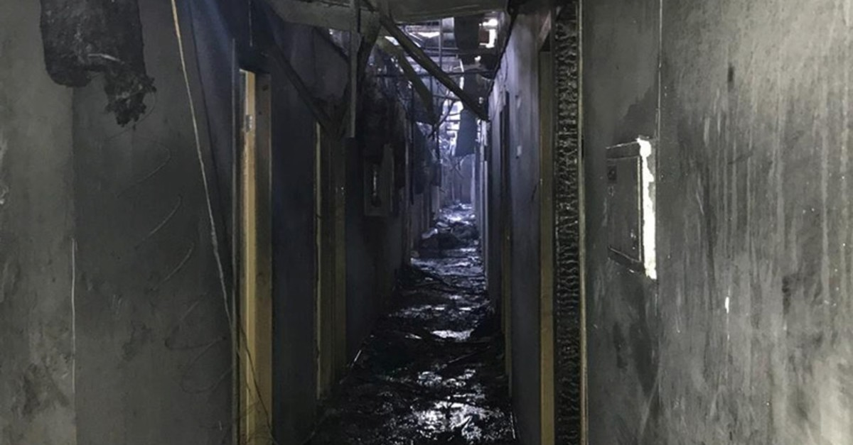A view shows a corridor of the Tokyo Star hotel that was hit by a heavy fire, in the Black Sea port of Odessa, Ukraine Aug. 17, 2019 (Reuters Photo)