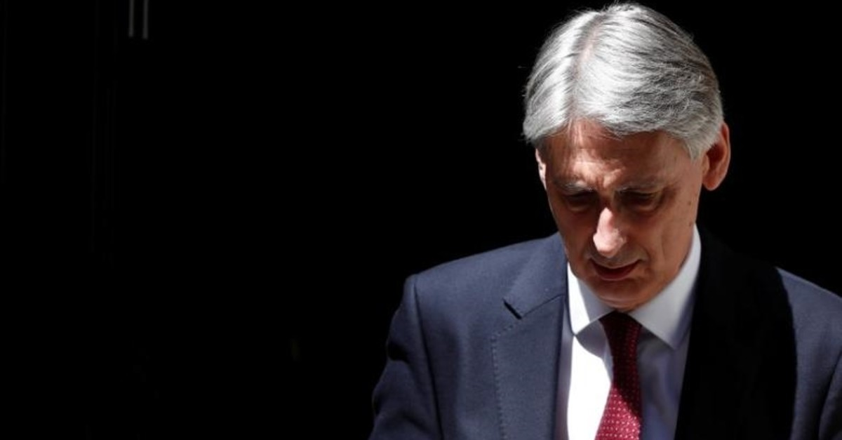 Britain's Chancellor of the Exchequer, Philip Hammond, leaves 11 Downing Street, in central London, Britain June 26, 2017. (Reuters Photo)