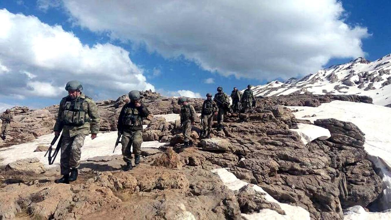 The Turkish military has been carrying out operations in Kato Mountain in southeastern Turkeyu2019s u015eu0131rnak, which used to be a safe haven for the PKK, May 27, 2017.
