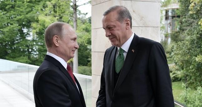 Präsident Erdoğan trifft Wladimir Putin in Sotschi
