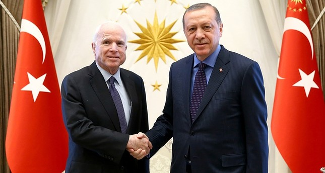 McCain in Turkey to meet Erdoğan, Yıldırım
