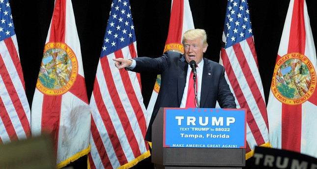 Republican presidential candidate Donald Trump speaks during a campaign rally at the Tampa Convention Center on June 11, 2016. (AFP Photo)