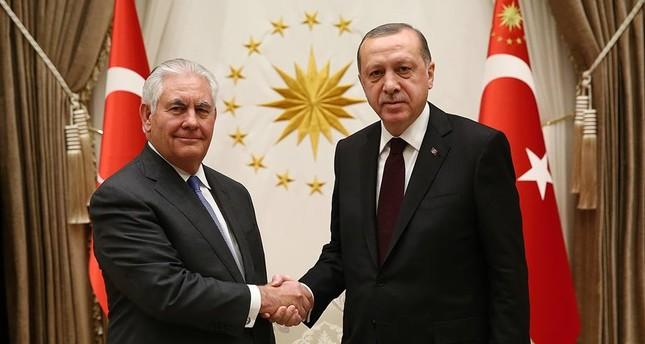أردوغان يلتقي وزير الخارجية الأمريكي في العاصمة أنقرة