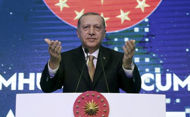 President Recep Tayyip Erdoğan addresses a business meeting in Istanbul, Dec. 21.