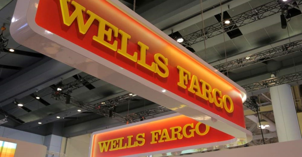 A Wells Fargo logo is seen at the SIBOS banking and financial conference in Toronto, Ontario, Canada October 19, 2017. (Reuters Photo)