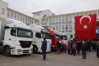 ولاية بولو التركية ترسل 9 شاحنات من المساعدات لنازحي إدلب