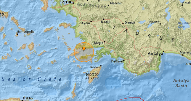 Magnitude 5.0 aftershock hits off coast of Datça