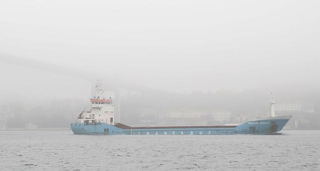 كثافة الضباب توقف حركة الملاحة البحرية في مضيق البوسفور بإسطنبول