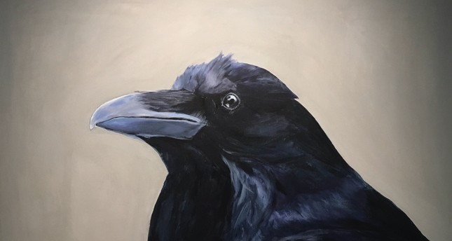 "In her ""Raven Portraits"" (2018) the artist Elmas Deniz portrayed ravens as dignified, complex beings for her current solo show at Pilot Gallery."