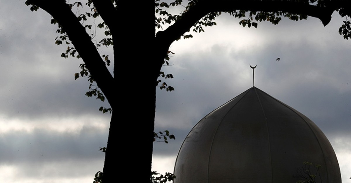 A view of the dome of Al Noor mosque, where the shooting took place, in Christchurch, New Zealand March 19, 2019. (Reuters Photo)