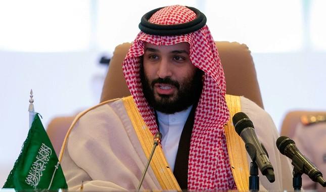 This Nov. 26, 2017 handout photo shows Saudi Crown Prince Mohammed bin Salman speaking at the meeting of defense ministers of the 41-member Saudi-led anti-terror force in the capital Riyadh. (AFP Photo/Saudi Royal Palace/Bandar al-Jaloud)