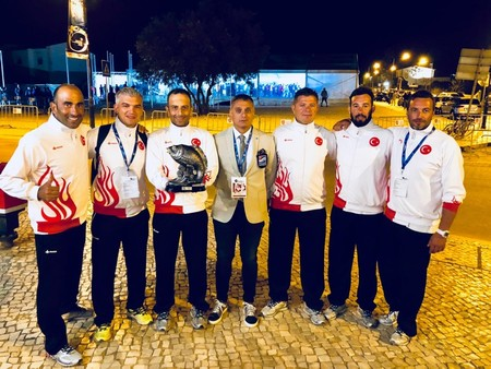 The Turkish national team at the Spearfishing World Championships in Portugal. (AA Photo)