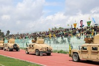 Terror symbols, Öcalan posters on full display at YPG parade near border with Turkey
