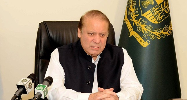 In this picture released by the Pakistan Press Information Department (PID) on July 23, 2015, Pakistani Prime Minister Nawaz Sharif speaks in a nationwide televised address in Islamabad (AFP Photo)