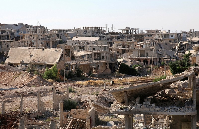 A general view shows damaged buildings in a rebel-held part of the southern city of Deraa, Syria June 22, 2017 (Reuters Photo)